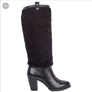 NIB Women's Ugg Ava Exposed fur boots heel